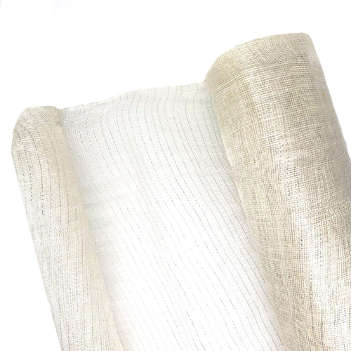 Hand Woven Unstiffened Sinamay Fabric With Lurex Thread, 1M X 90Cm FS066