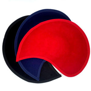 Scallop, shaped felt material base for millinery fascinators wedding hats HA040