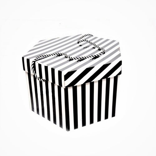 Small candy stripe fascinator box for millinery fascinators wedding hats HA027