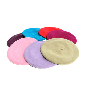 Traditional wool rich 27cm beret for millinery fascinators wedding hats HA037