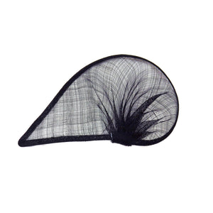 Sinamay material gathered teardrop for millinery fascinators wedding hats HA066