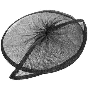 Sinamay material gathered split saucer for millinery fascinators weddings HA067