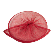Load image into Gallery viewer, Sinamay material gathered split saucer for millinery fascinators weddings HA067