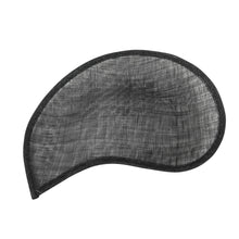 Load image into Gallery viewer, Sinamay material scalloped half moon for millinery fascinator wedding hats HA091