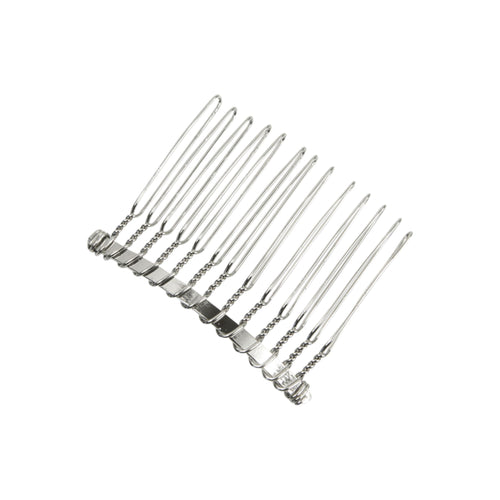 Metal split hair comb with 13 teeth for fascinator millinery hats HB002