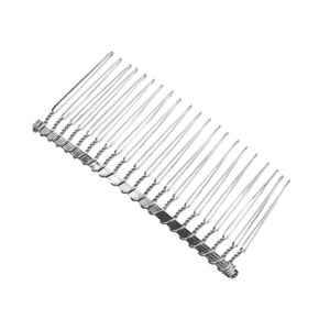 Metal split hair comb with 21 teeth for fascinator millinery hats HB003