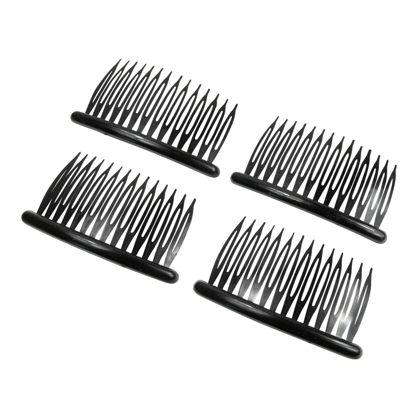 4 x plastic split hair comb with 14 teeth for fascinator millinery hats HB004