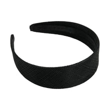 Load image into Gallery viewer, Sinamay material covered headband 30mm wide for fascinators millinery hats HB015
