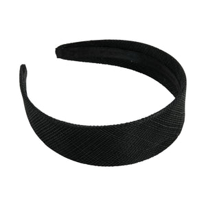 Sinamay material covered headband 30mm wide for fascinators millinery hats HB015