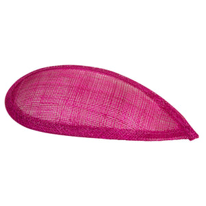 Sinamay material teardrop  fascinator base for millinery wedding hats HB016