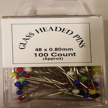 Load image into Gallery viewer, HB063 Glass headed pins 48x0.8mm