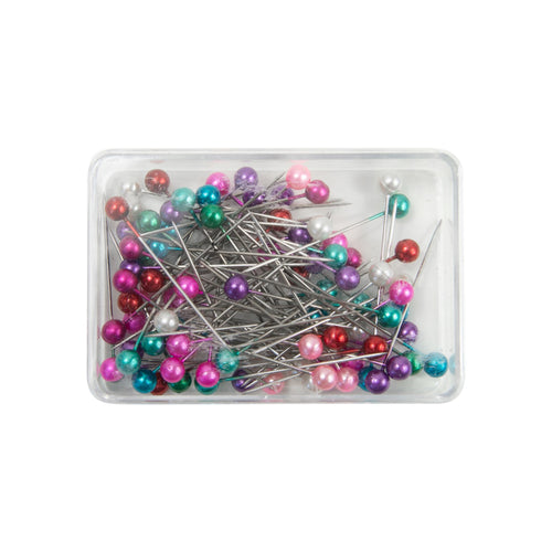 HB068 Pearlised headed pins 34x0.6mm