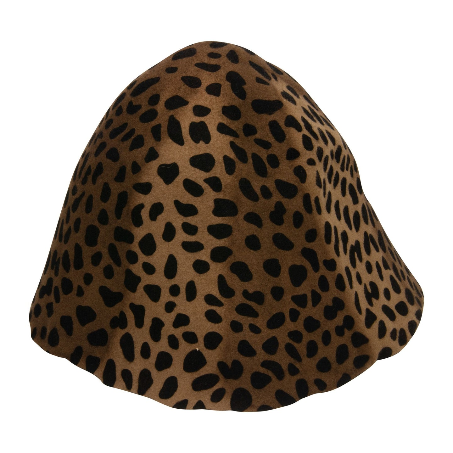 Leopard print wool felt cones for millinery fascinators and wedding hats HF004
