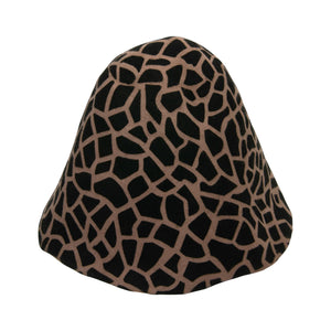 Giraffe print wool felt cones for millinery fascinators and wedding hats HF008