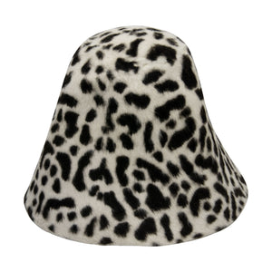 Cheetah effect double side melusine fur felt cone for millinery fascinator HF020