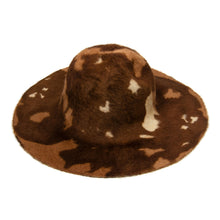 Load image into Gallery viewer, Tiger print double side melusine fur felt capaline millinery fascinator HF025