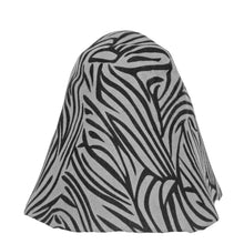 Load image into Gallery viewer, Double Sided Zebra Stripe Patterned Wool Felt Cone for Hats Fascinators and Millinery HF039
