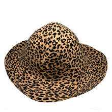 Load image into Gallery viewer, Double Sided Animal Print Small Felt Flared Capaline for Hats Fascinators and Millinery HF044