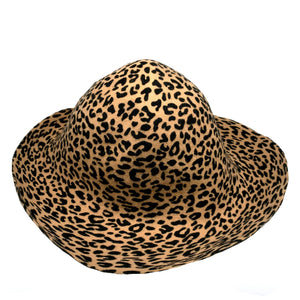 Double Sided Animal Print Small Felt Flared Capaline for Hats Fascinators and Millinery HF044