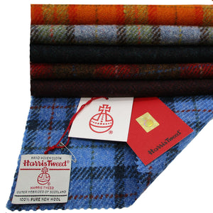 Genuine Harris Tweed Blue Green Tartan Check FS062