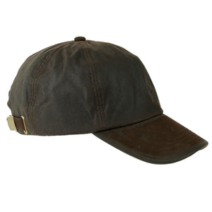 ZH009 Hamilton Wax/Leather Peak Baseball Cap