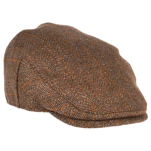 ZH010 Fox Derby Tweed Flat Cap