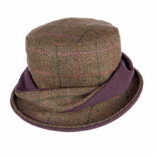 Load image into Gallery viewer, ZH053 Elise Ladies British Tweed Twist Hat