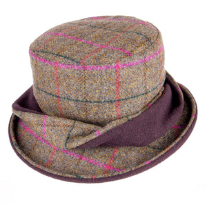 ZH053 Elise Ladies British Tweed Twist Hat