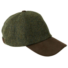 Load image into Gallery viewer, ZH101 Tyndrum British Tweed/Leather Peak Baseball Cap