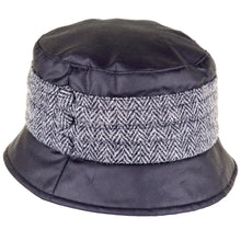 Load image into Gallery viewer, ZH177 Amy Wax/Harris Tweed Pleat Hat