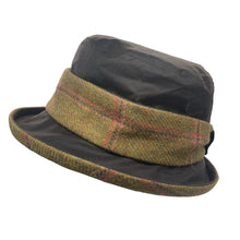Load image into Gallery viewer, ZH186 Natalie Wax/Tweed Band Hat
