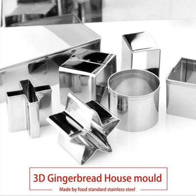 10PC 3D Christmas Cookie Cutter Set