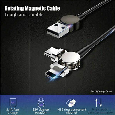 180° Rotation Magnetic Charging Cable