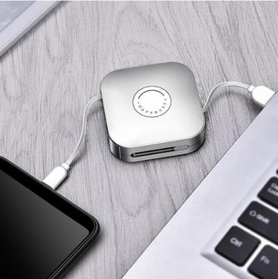 3 in 1 Retractable USB Cable Box