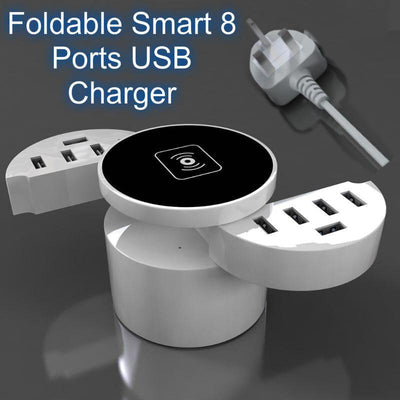 Foldable Smart 8 Ports USB Charger