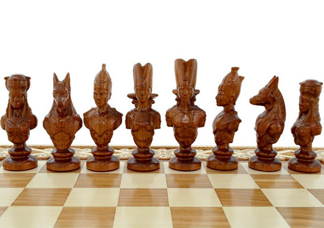 Unique cherry 30 cm Handcrafted Wooden Chess Set
