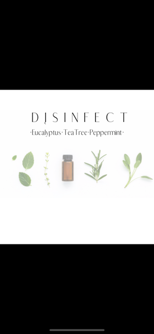 DISINFECT • 10oz Tumbler vessel with wood lid (Eucalyptus, Tea Tree, Peppermint)