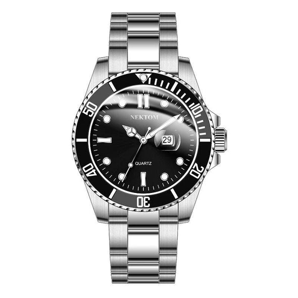 Men's Watch Best Quartz Waterproof Classic Watch-Black