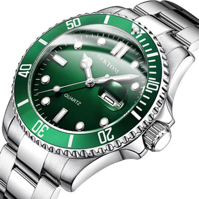 Men's Watch Best Quartz Waterproof Classic Watch-Green