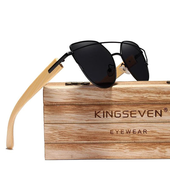 Nektom&KingSeven - 2021 Handmade Women Sunglasses Made Of Noble Natural Wood