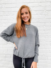Load image into Gallery viewer, Pretty in Grey Sweater