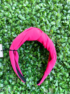 Pink Twisted Knot Headband