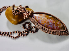 Load image into Gallery viewer, Marquise Indonesian River Agate Pendant