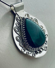 Load image into Gallery viewer, Malachite Swirl Pendant