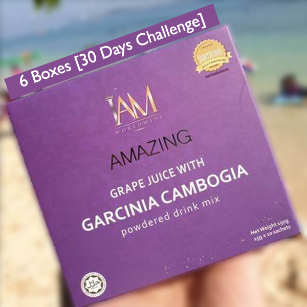 6 Boxes Of Amazing Grape Juice With Garcinia Cambogia 60 Sachets