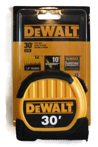 30 ft. DeWalt Tape Measure with Fractional Scale DWHT36109 (DW-36109)  1-1/8