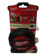 10M/33ft Milwaukee Dual Magnet Tape Measure 48-22-5233 Class II with architectural scale (MIL-5233)