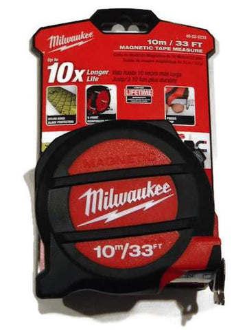 10M 33 ft Milwaukee tape measure 48-22-5233