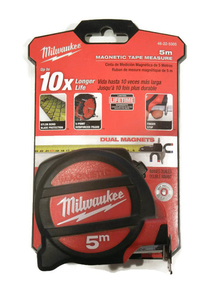 5M Milwaukee Magnetic Tape Measure 48-22-5305 Class II with architectural scale (MIL-5305)