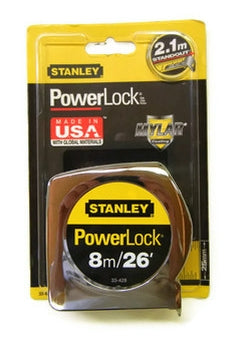 Stanley 8 meter / 26 ft tape measure